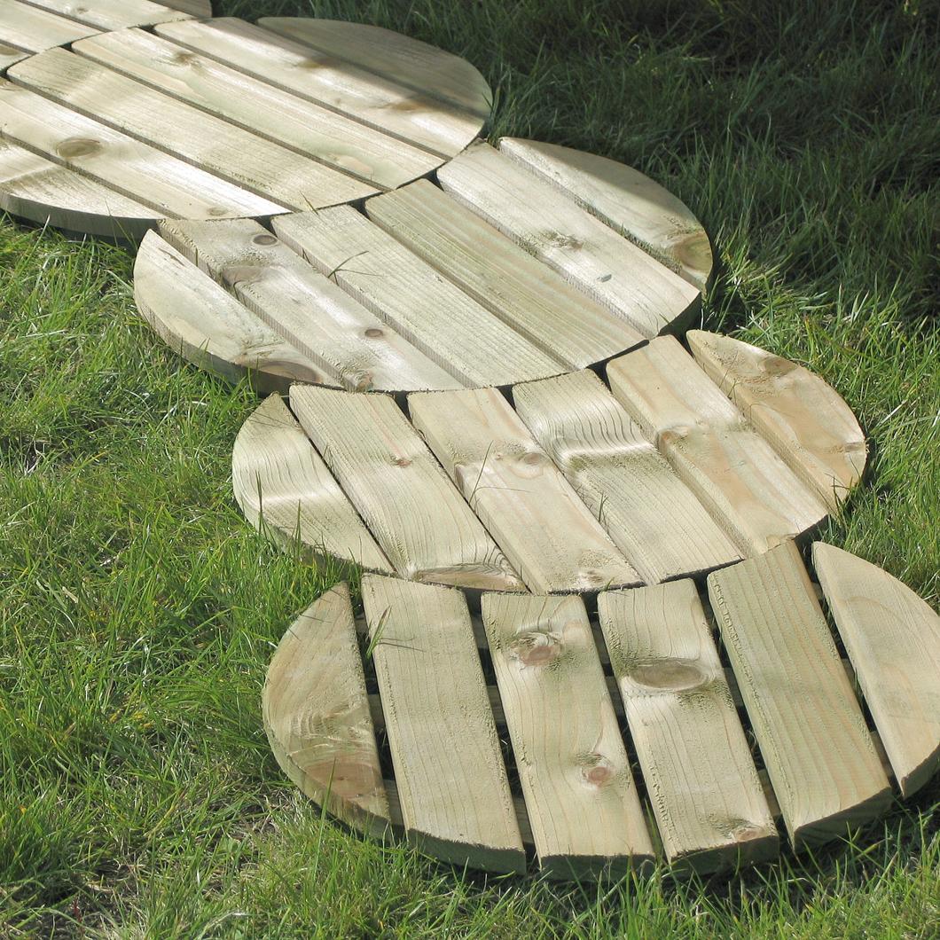 how to build a circular deck